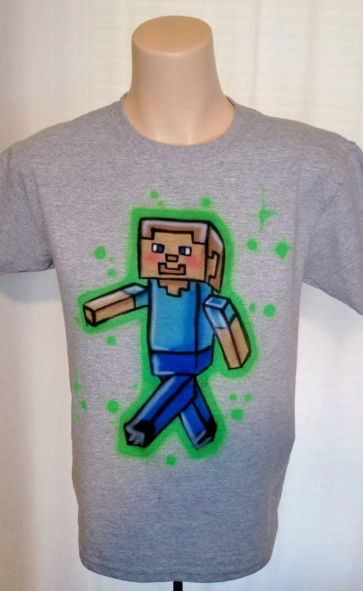 Custom Minecraft Shirts for a Minecraft Birthday Party.
