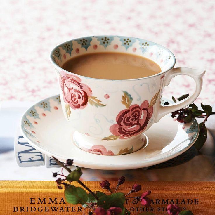 Emma Bridgewater Rose & Bee large teacup & saucer
