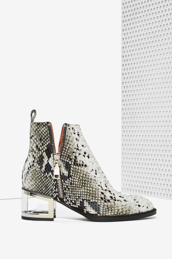 Jeffrey Campbell Boone Leather Boot - Snake | Shop Shoes at Nasty Gal!