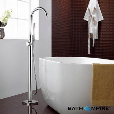 Freestanding Bath Mixer Tap With Hand Held Shower Head | Cascade II - BathEmpire OH WOW!!! IF ONLY!!