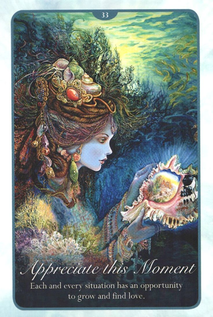 """""""33 Appreciate this Moment"""" Oracle Cards Whispers of Love par Josephine Wall and Angela Hartfield"""