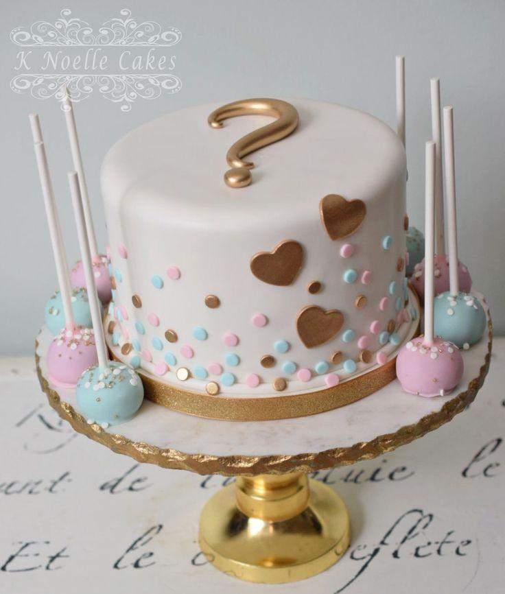 Baby Shower Cakes No Gender Luxury Gender Reveal Cake By K Noelle