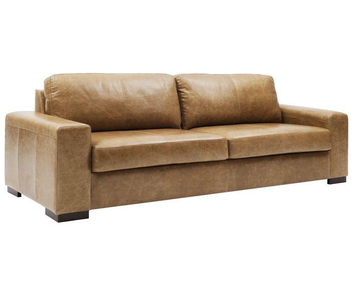 sofá de couro legítimo 3 lugares toscana (couro especial)-large-0