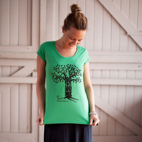 Ladies Fitted NTNM T-shirt Emerald Green