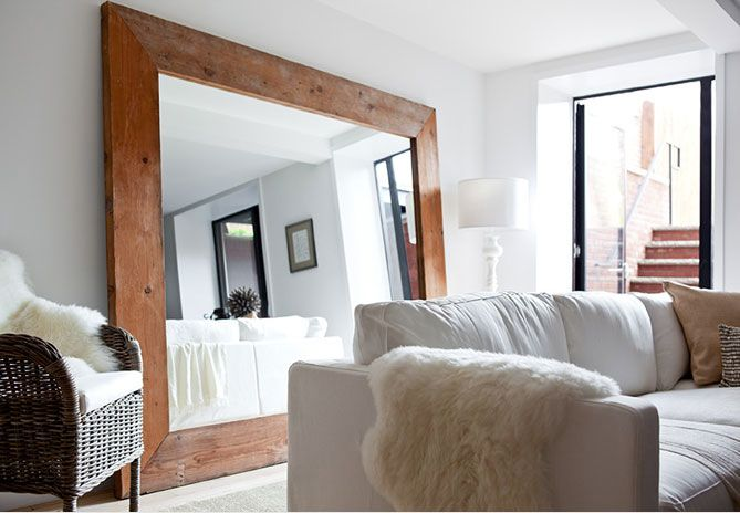 fireplace with windows on either side | ... window reveal - hang mirrors on either side of it. Place lamps or
