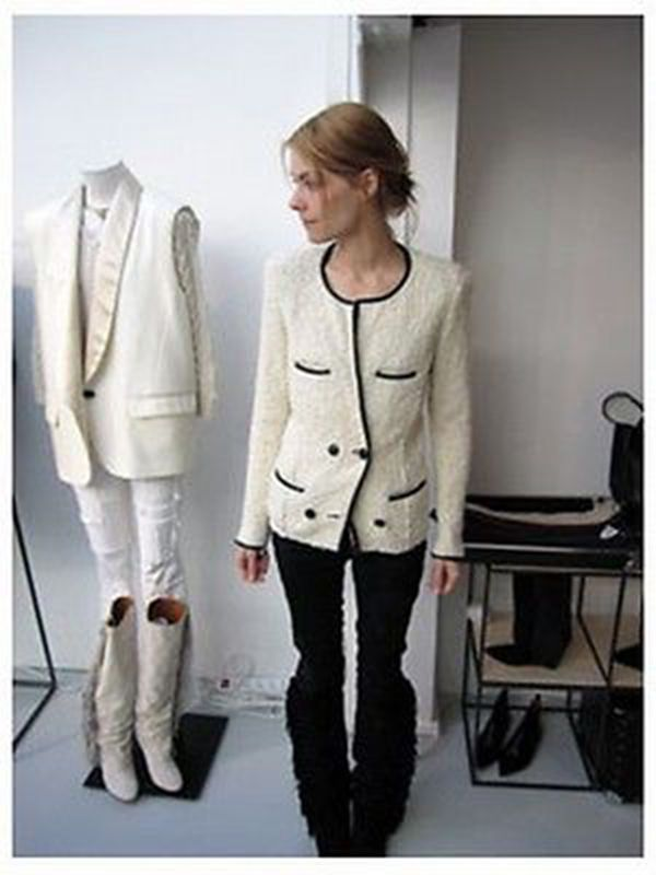 ISABEL MARANT EGGER CREAM JACKET 2 FR 38 UK 10 US 6 IT 42 #IsabelMarant