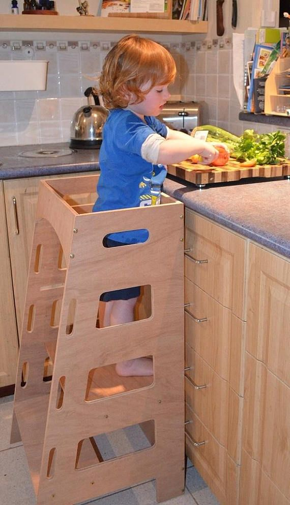 Montessori Kitchen Stool Step