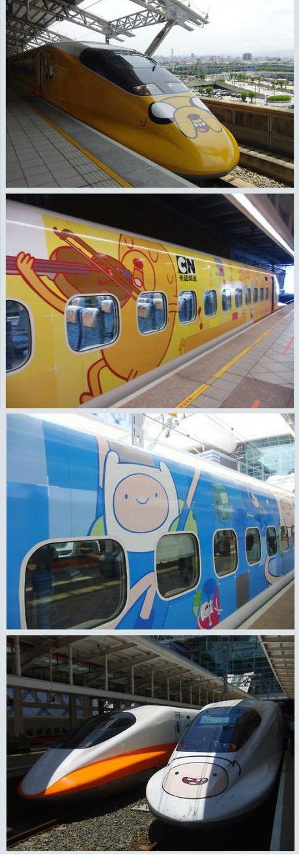 Adventure Time trains, Taiwan (via Reddit http://www.reddit.com/r/adventuretime/comments/1jfmx0/adventure_time_trains_taiwan/)