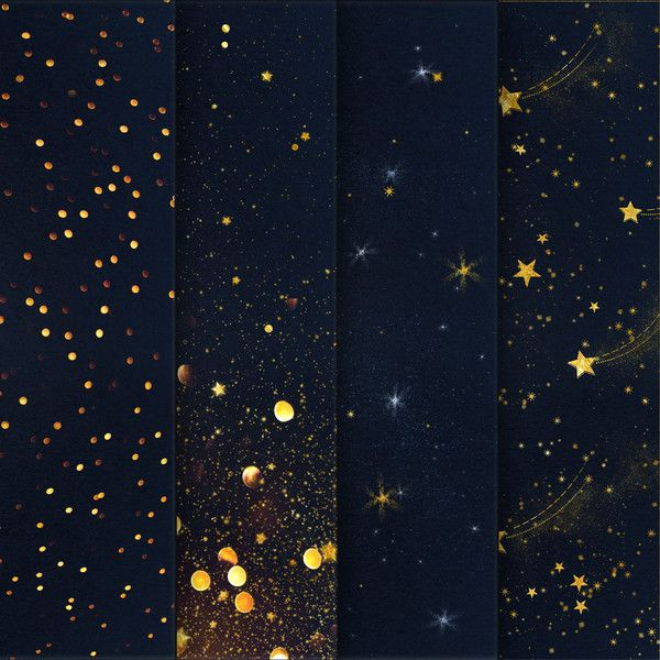 Starry Night Digital Paper Backgrounds, Star Night Sky Digital Paper,... ($2) ❤ liked on Polyvore featuring backgrounds, pictures, borders, filler and picture frame