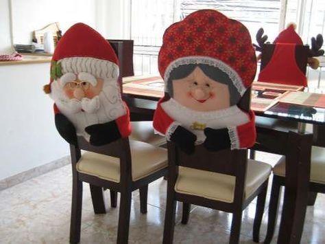 Cubre Sillas Navideños | Navidad otro | Pinterest