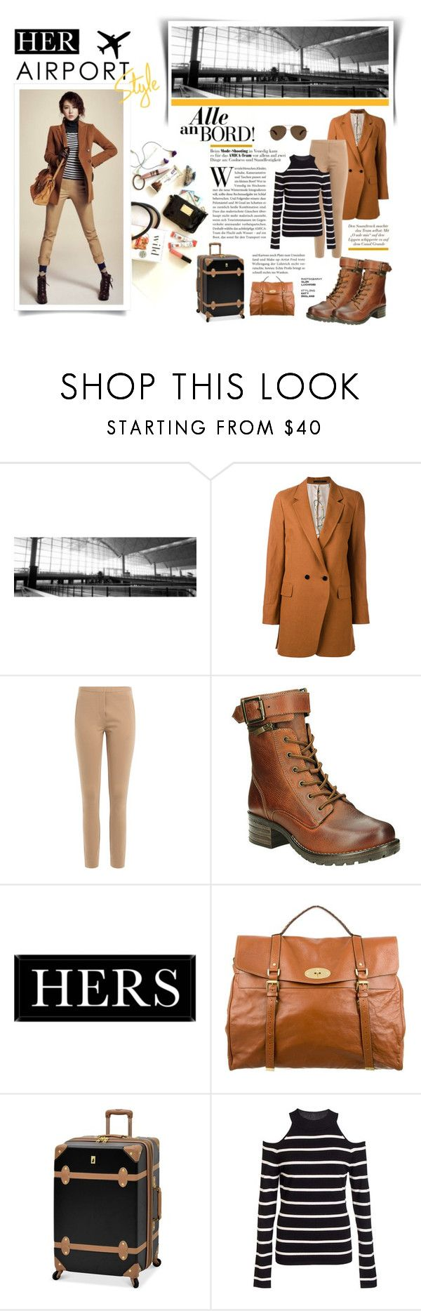 """""""The Classic Airport Style"""" by atikazahra on Polyvore featuring Paul Smith, By Malene Birger, taos Footwear, Universal Lighting and Decor, Mulberry, London Fog, Dorothy Perkins, travel, stripes and Trendy"""