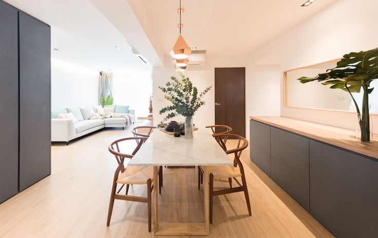 House Tour: Four-room HDB BTO home with shades of blue and interesting architectural details