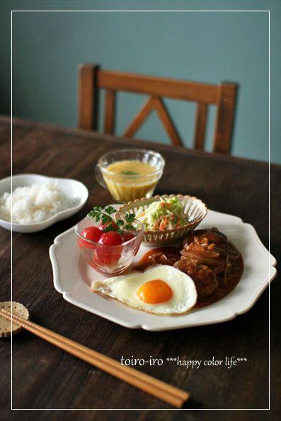 煮込みハンバーグの洋風晩ごはん by トイロさん | レシピブログ - 料理 ...