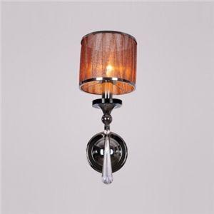 flottant Une lampe Café en tissu Cylindre abat-jour Appliques murales Orné avec facettes Crystal Goutte Parfait pour chambre à coucher