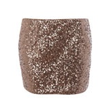 Brown Sequinned Mini Skirt