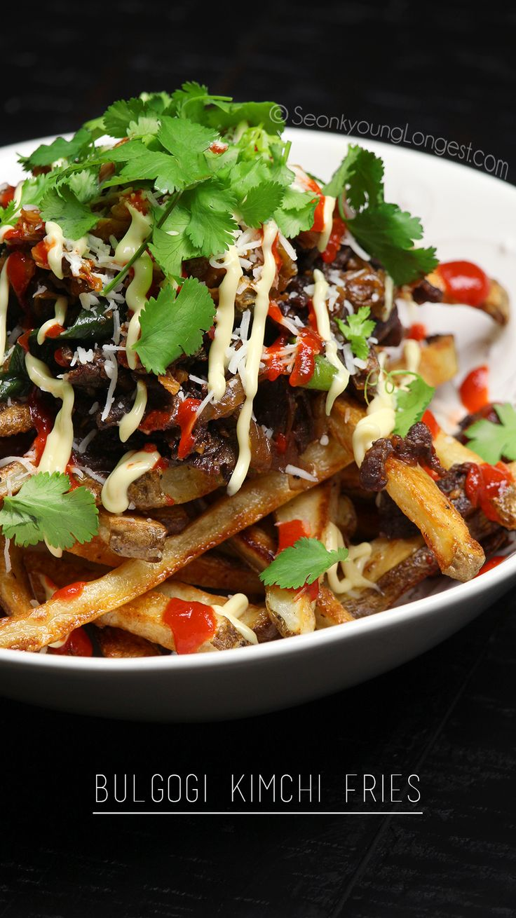 5 from 1 reviews Bulgogi Kimchi Fries  Save Print Prep time 5 mins Cook time 40 mins Total time 45 mins  Author: Seonkyoung Longest Serves: 2 Ingredients For the potatoes 2 russet potatoes (1½ lb / 680g) 2 tsp. / 8g sea salt 1 tsp. / 4g blak pepper 2 Tbs. / 30ml...Read More »
