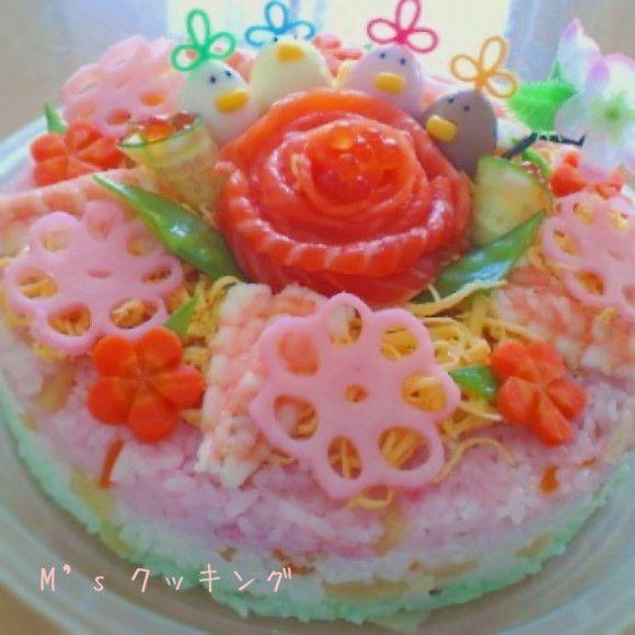 お寿司ケーキ☆ひな祭り☆