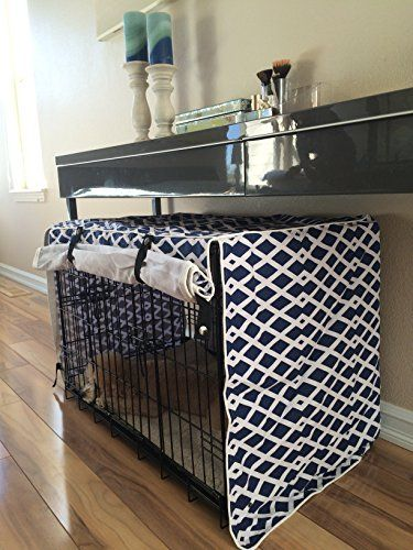 nice Modern Blue Marine Dog Pet Wire Kennel Crate Cage House Cover (Small, Medium, Large, XL, XXL)