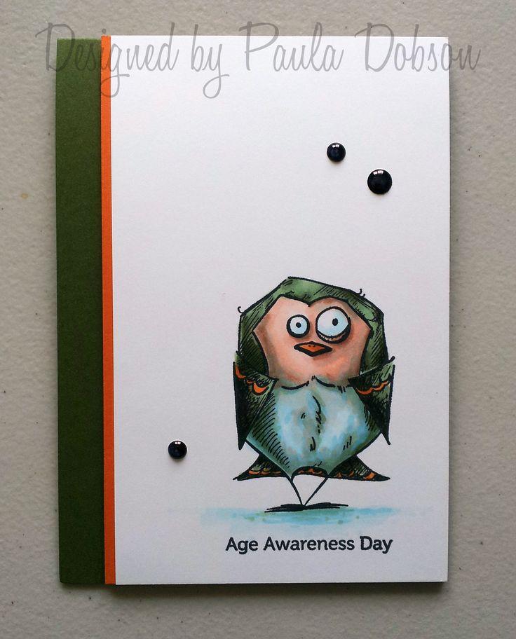 Bird Crazy, Copics, Male, Birthday, Paula Dobson