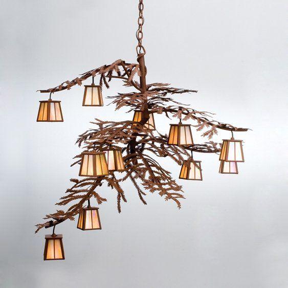 Meyda Tiffany Custom 30126 12 Light Pine Branch Chandelier Atg S