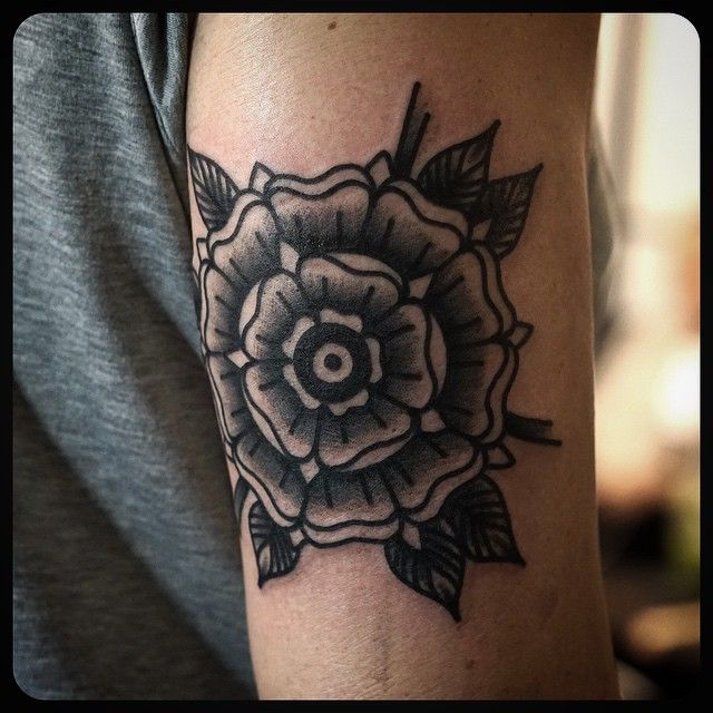 "Philip Yarnell on Instagram: ""#tudor #rose #tattoo #tattoos Done at @sbldnttt"""