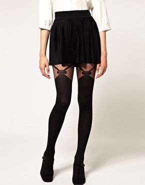 I also shouldn't love these tights as much as I do. Side note- love the tights but the skirt is way too short.