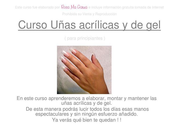 Curso uñas acrilicas y de gel
