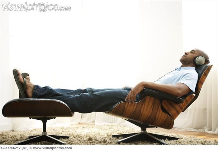 Man Listening To Music In Eames Lounge Chair | Home Office | Pinterest | Lounge  Chairs