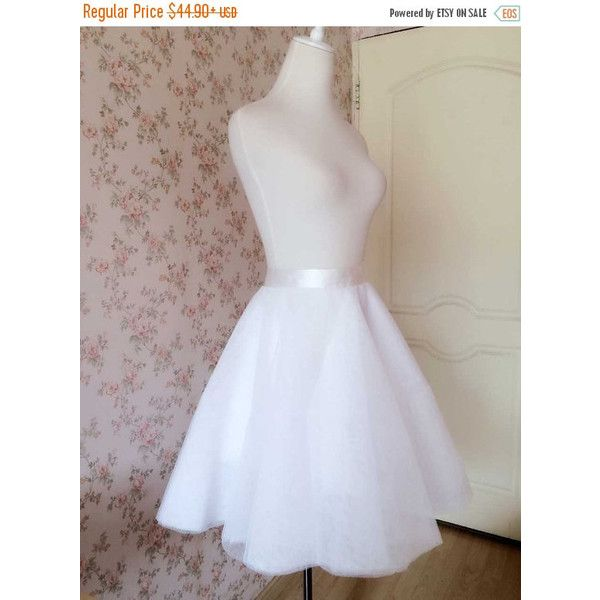 White Tulle Skirt Fashion Women Tulle SKIRT Wedding Tutu Knee Skirt... ($40) ❤ liked on Polyvore featuring skirts, plus size tutu skirt, plus size tulle skirt, plus size skirts, plus size tutu and tutu skirts