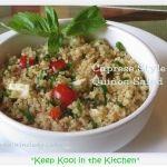 Recipe - Caprese Style Quinoa Salad from