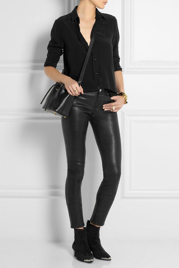 huge hand bags - Saint Laurent | Emmanuelle small leather bucket bag | NET-A-PORTER ...