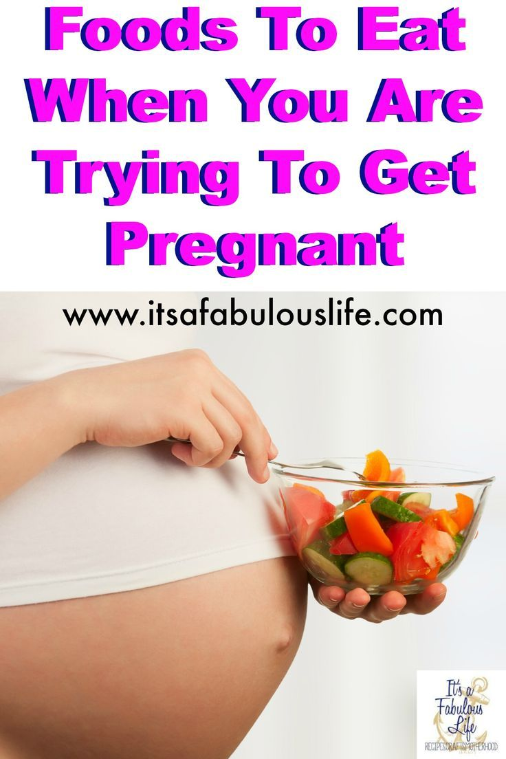 What Foods Should You Eat When Trying To Get Pregnant
