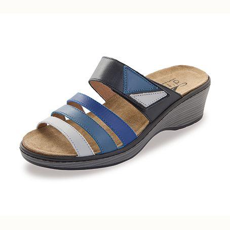 Sandalias de piel Gijón Azul