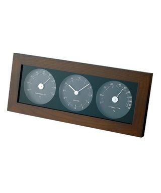 IDEA LABEL ウッド温湿時計 (Dark Brown) ¥5,500(税抜)