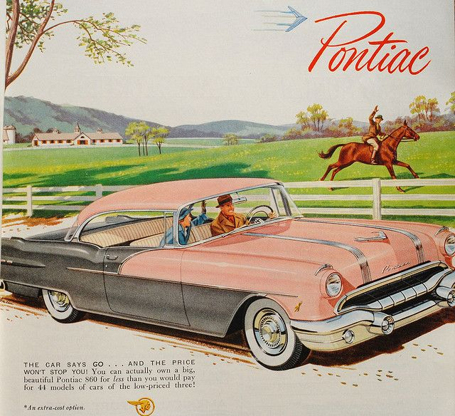 1956 Pontiac 860 in the wonderful pink and gray paint!