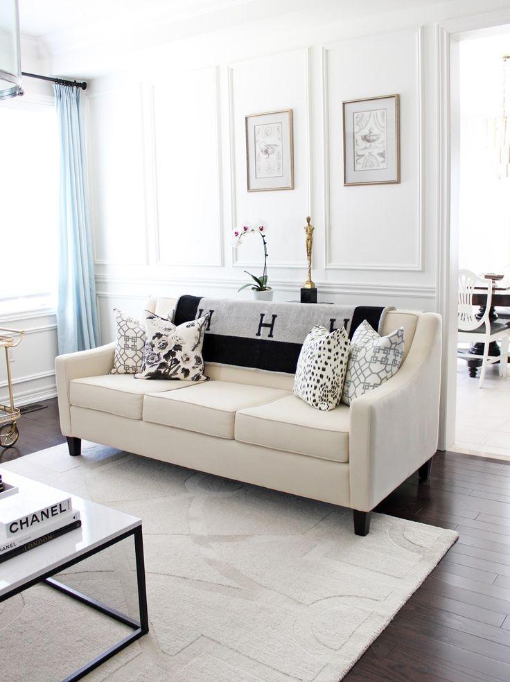 AM Dolce Vita: Spring Refresh - Part Une,  Hermes Avalon blanket, black white decor