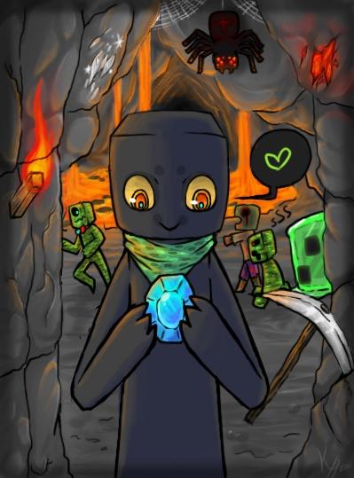 Cute Minecraft art