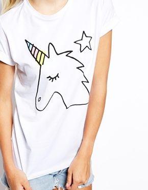 Image 3 - ASOS - T-shirt style boyfriend avec joli imprimé licorne