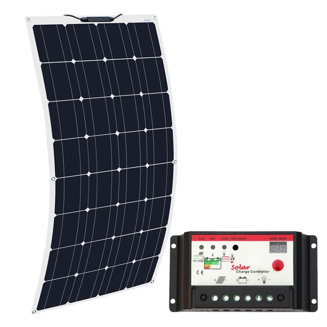 Boguang Brand Solar Battery Flexible Solar Panel 100w 12v 24v Controller 10a Solar System Kits For Fishing Boat Ca Flexible Solar Panels Solar System Kit Solar