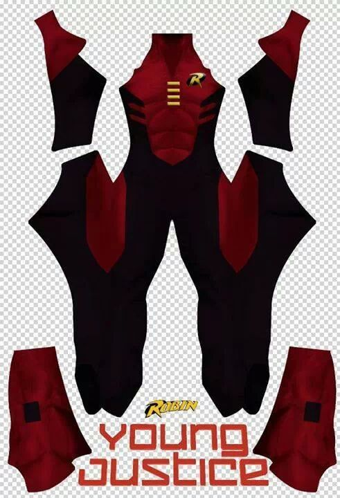 Robin young Justice spandex custom costume dye sublimation