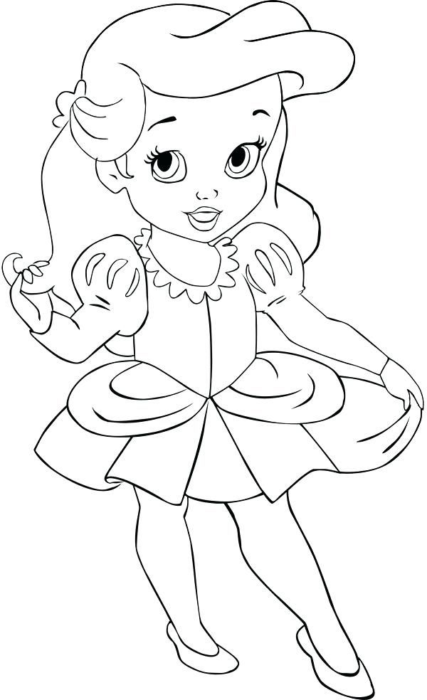 Ariel Baby Disney Princess Coloring Pages Mermaid Coloring Pages Disney Princess Colors