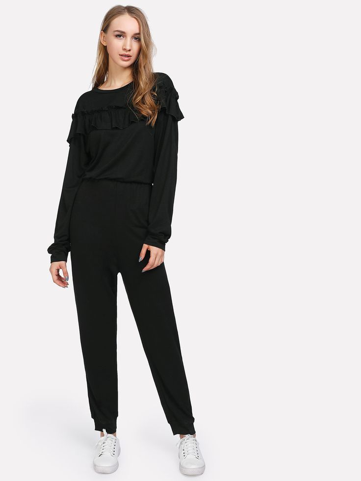 Shop Elastic Waist Ruffle Jumpsuit online. SheIn offers Elastic Waist Ruffle Jumpsuit & more to fit your fashionable needs.