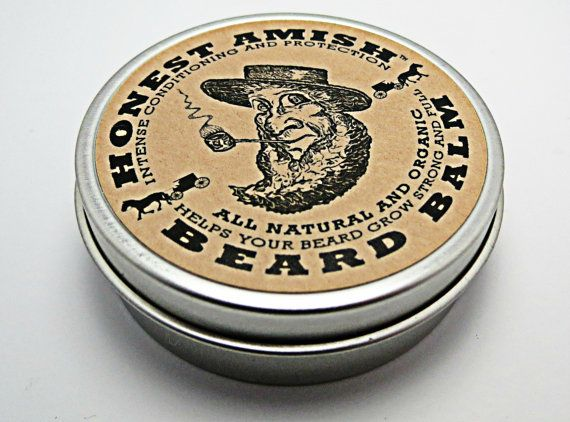 Honest Amish Beard Balm -  Men's Leave-in Beard Conditioner and Tamer - All Natural and ORGANIC with Argan - THE BEST. $14.50, via Etsy.