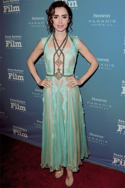 Lily Collins attends SBI Film Festival For Excellence In Film at Bavaria Resort & Spa, Goleta, CA (Dec 01)