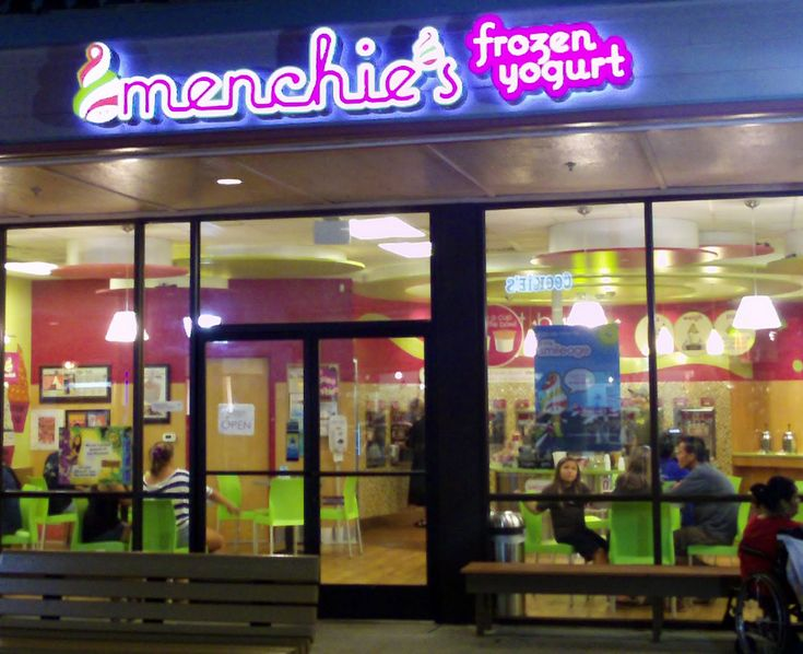 Menchie's has over 80 stores and expects to be the largest frozen yogurt franchise in the world by the end of 2011. Description from buyfrozenyogurt.com. I searched for this on bing.com/images