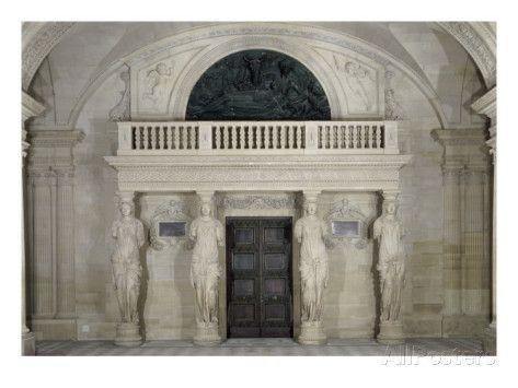 Les Cariatides reproduction procédé giclée par Jean Goujon le Louvre