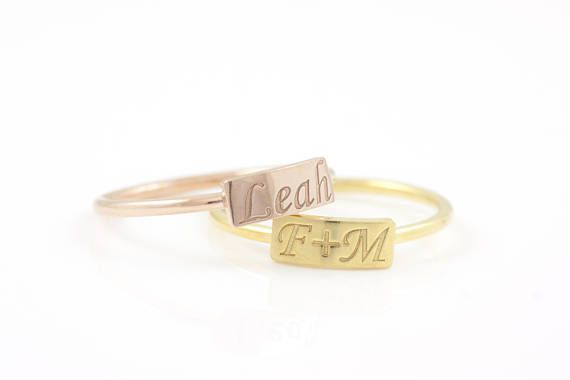Name Ring Custom Name Ring Personalized Ring Mothers Ring