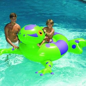 This inflatable over sized amphibian will bring big smiles. Our Giant Inflatable Frog is adorable and will get you across the pool in style. Giant inflatable Pool toys are awesome.