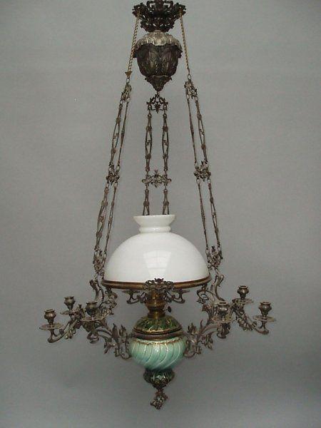Petrolejová lampa stahovací lustry svícny starožitnosti galerie ustar · antique lampsantique