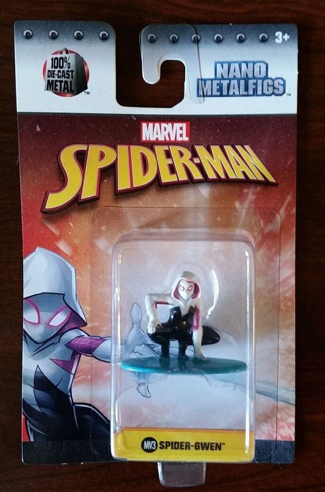 Marvel Spider Man SPIDER GWEN Nano Metalfigs 100% Die-Cast Metal Figure NEW 2017 #JADA